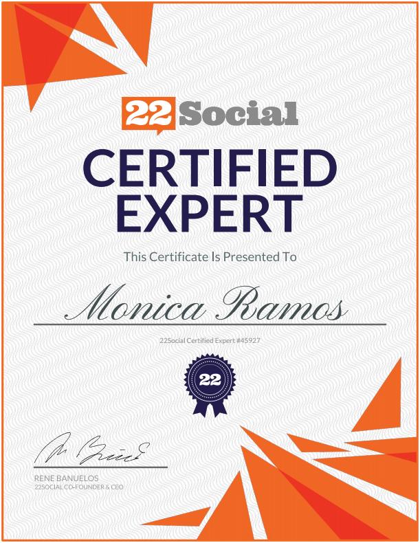 Monica Ramos | 22Social Certified Expert