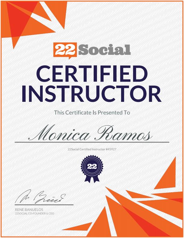 Monica Ramos | 22Social Certified Instructor