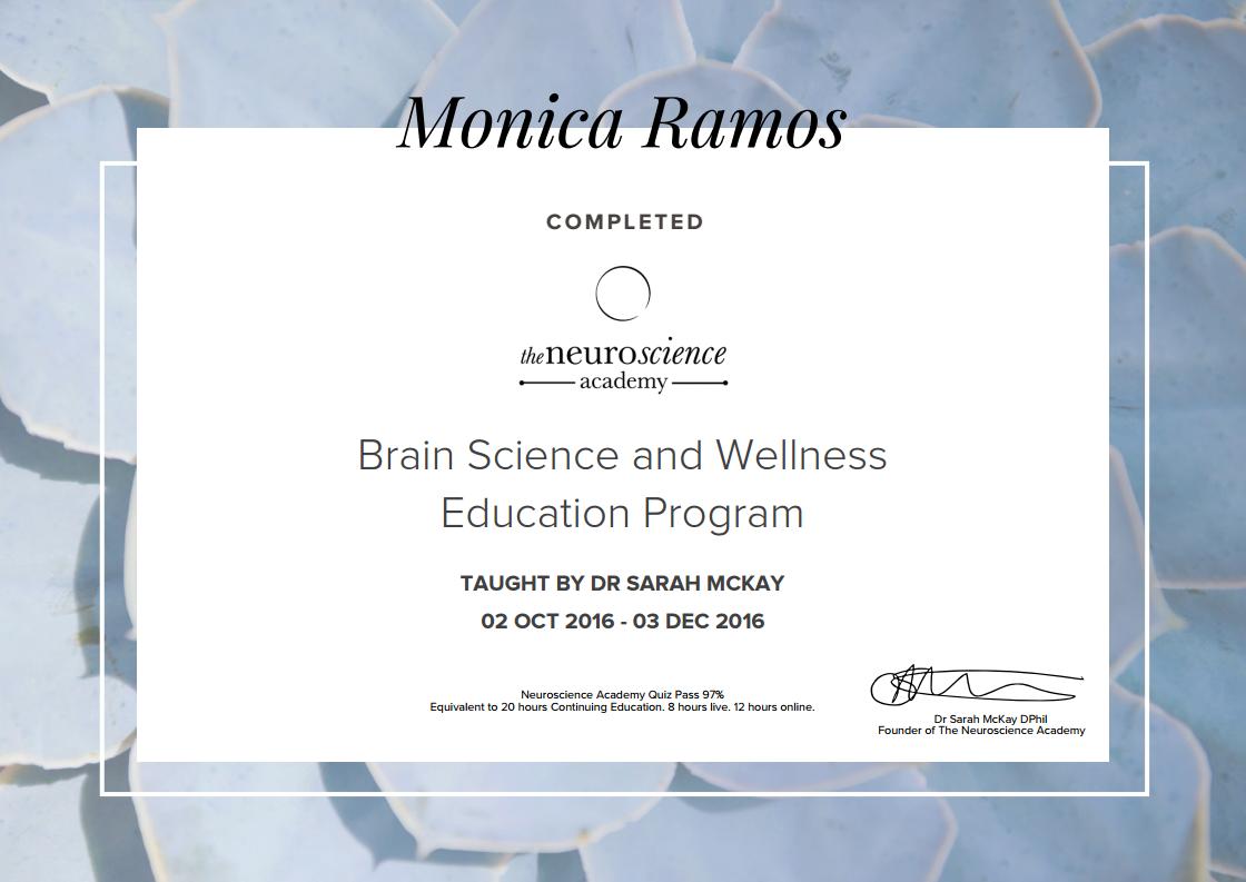Monica Ramos | Brain Science and Wellness Education